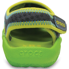 Crocs Swiftwater Sandals Kids Graphite/Volt Green